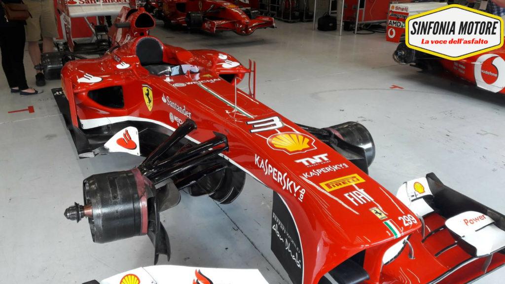 La Ferrari F138 del 2013 presente a Spa nell'ambito del programma F1 Clienti